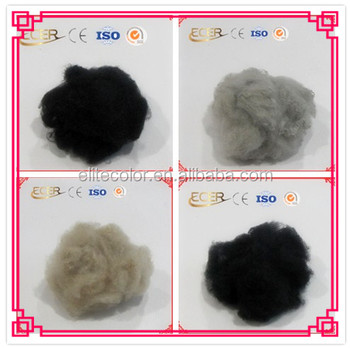 Virgin Grade recycled dope dyed polyester staple fiber for low enegy consumption high efficiency spinning or non-woven fabric