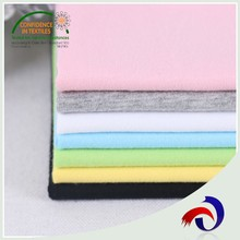 Solid cheap wholesale 100% cotton soft feeling strips of 100 cotton jersey fabric