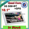 3g tablet pc Sim Card Slot 10.1 Inch PC Tablet Android 4.1 Sanei N10 Quad Core IPS Screen+ Phone Call+ GPS +Bluetooth