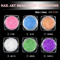new arrival nail art colorful mini point bling acrylic stone decoration