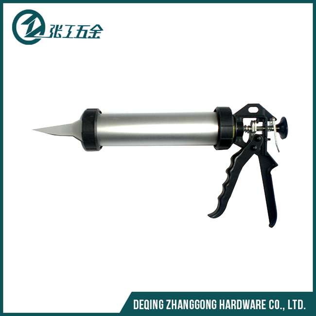 Aluminum tube trigger caulking sealant gun
