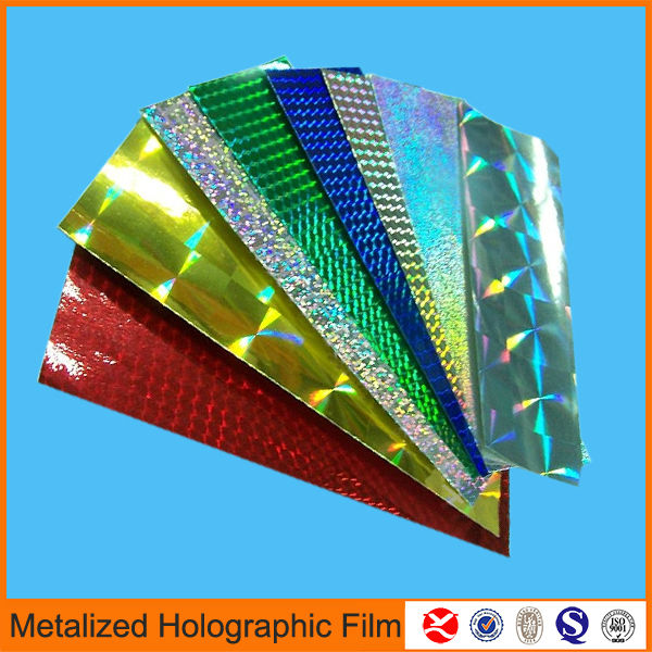holographic bopp reflective polyester film