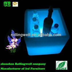 led ice cube bucket,plastic led cube ice