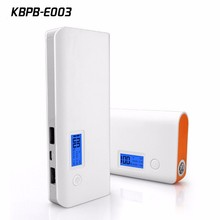 Kingberry hot selling portable 2000mah power bank with display E003