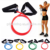 High Quality 11pcs Resistance Band tube set With Foam Handles For Yoga Pilates Abs Exercise Tube