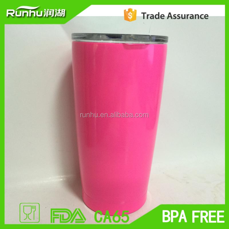 Stainless Steel Tumbler, Premium 20 oz Travel Cup with Closing Lid RH524-20