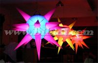 Inflatable hanging stage decorating led light star balloon for sale C2022