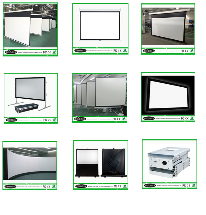 New product 2016 tab-tension motorized projection screen of China