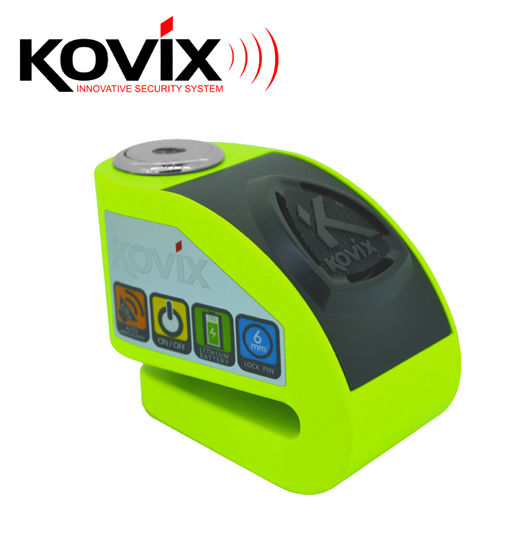 portable stylish new technologey zinc alloy magnetic force on off selection motorcycle bicycle KOVIX KD6 DISC LOCK ALARM