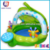 Giant inflatable family swim pool PVC Inflatable leaf sunshade swimming pool for kids