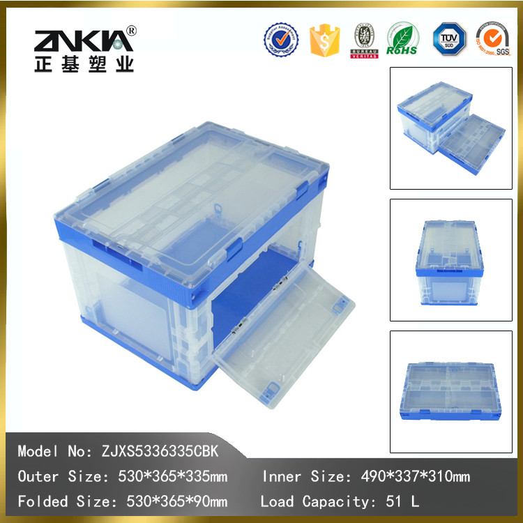 green eco-friendly plastic Storage Fold Box for fruit vegetable