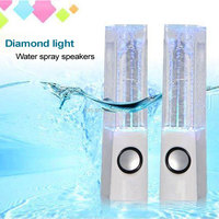 "Crystal colorful stereo music fountain spray speakers ""daruma"" dance water acoustics subwoofer mini acoustics"