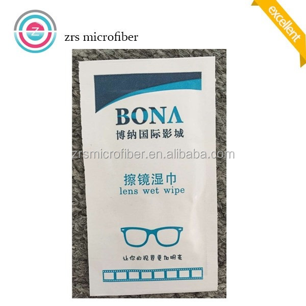 individually wrapped lens cleaner, eyeglass cloth, wet tissue, wet wipe