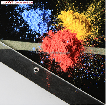 low temperature 500-950C ceramic enamel pigment for glass decoration