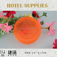 pro tourism products manufacturer personalized round orange hotel soap and bath soap