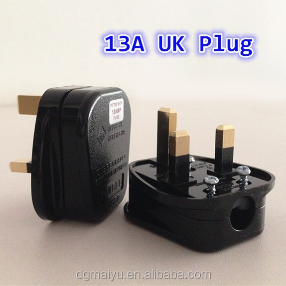 13A UK Plug 3 Flat Pin British Standard Plug with BSI 1363/A approved