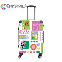 Customized Design hardside travel luggage plastic travel luggage /abs pc luggage bag set hardshell trolley case set with wheels