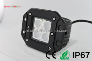2014 new design cree leds 16w flush mount led work lights for tractors,jeep,truck