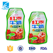 Safety Food Grade!! food packaging plastic stand up spout pouch for milk packaging