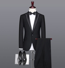 2017 european style slim fit tuxedo men suit