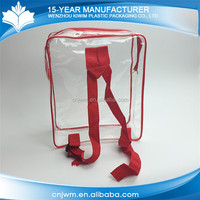 New waterproof transparent cheap clear pvc backpack