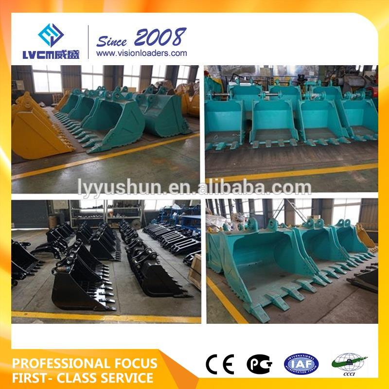 pc200/ PC400 digger/digging excavator bucket for attachment parts, mining rock bucket