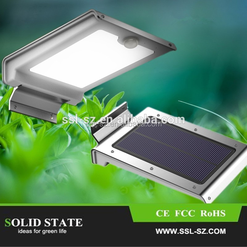 2015 Top Selling High Quality 2W PIR Sensor Mini Solar LED Wall Light