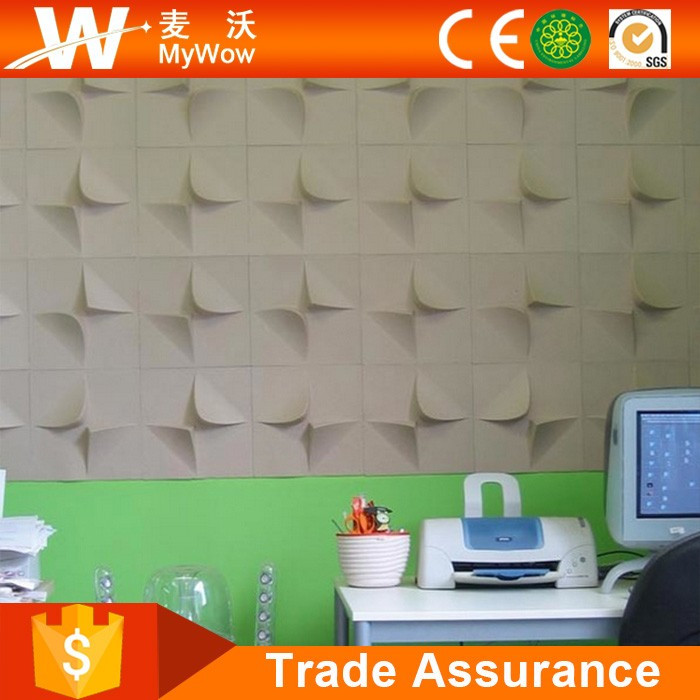 Fashionable Glue On wall 3d PVC Wall Panel Plastic Wall Panel PVC Tile