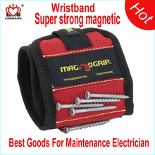 Super strong magnetic pick up tool wristband magnet wrist band for maintenance electrician