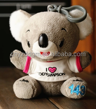 plush toys/animal plush toys/cute koala with T-shirt plush toy/custom plush toy/stuffed plush toy