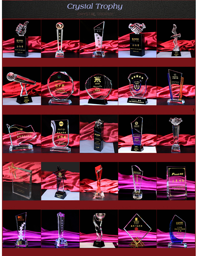 New design best selling Cheaper Wholesale Presentation Etiquette Award Gifts Crystal Trophy