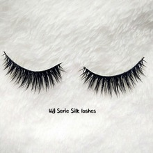 Factory wholesale private label cheap silk strip eyelashes 100% handmade 3d false eyelashes