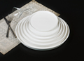 Super White Handmade New Bone China Porcelain Dinner Plates for Wedding