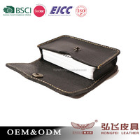 New Design Custom Genuine Leather Credit Card Holder/ Manmade top layer genuine leather card holder