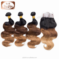 Medium Dark Brown Highlight Color 100% Indian Remy Human Hair For Black Women
