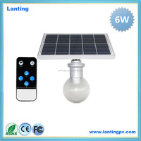 2016 china supplier solar light 5w 6w 9w 12w best selling led solar garden light with remote control