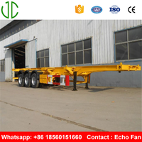 3 Axles Skeleton Container Chassis Trailer
