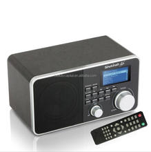 ONE STOP SERVICE for audio internet radio with time and date display