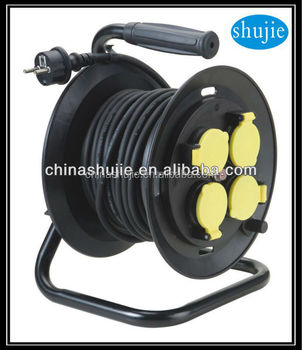 rubber insulated cable with plug,socket and reel