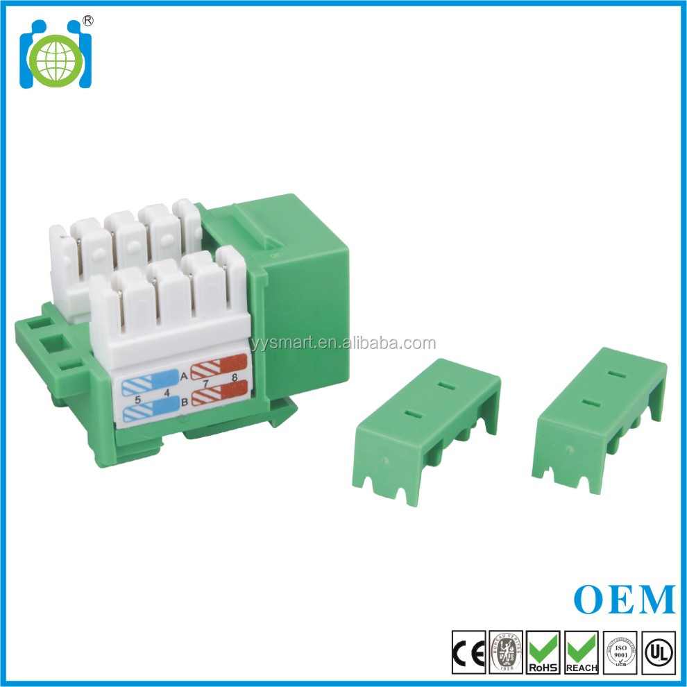 90 Degree CAT.6 Unshielded RJ45 Wall Jack