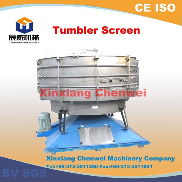 Tumbler vibrating screen for chemical fertilizer