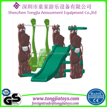 children plastic multi-functional outdoor slide kids swing and slide for sale outside and inside house play equipment