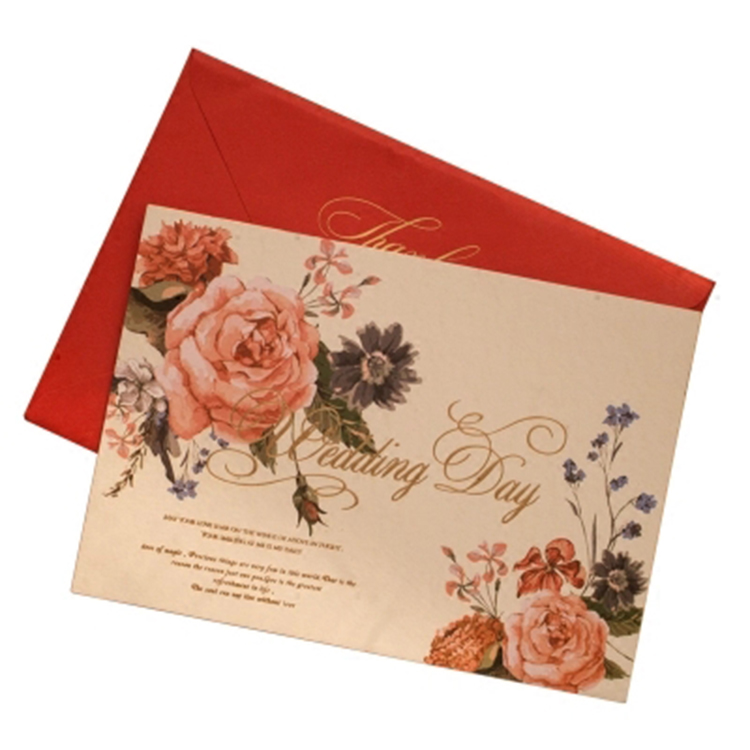 Wholesale luxurious laser cut handmade decoration embossed wedding card