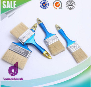 wholesale detailed tapered wall synthetic fiber handle paint brush with plastic handle