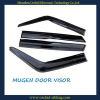 mugen type 1.5mm black transparent rain shield for honda civic 06 use