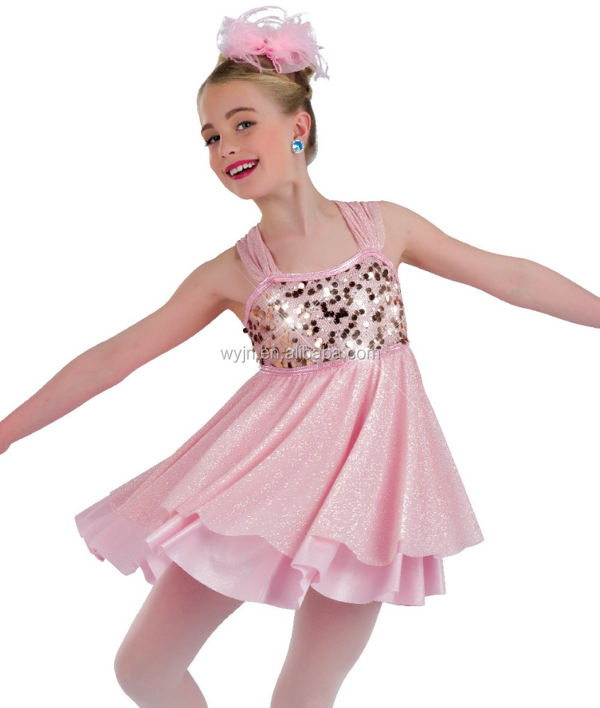 2016 - glitter dress with shorts teen lyrical Girl's sequin lycrial fairy ballet dance dress