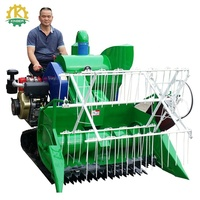 Kinger Factory Supply Mini Rice Combine Grain Harvester with Crawler
