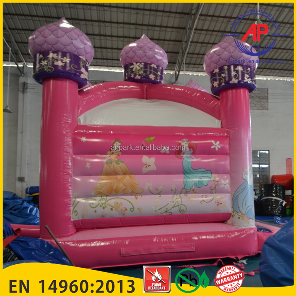 Airpark Lovely Princess Castle Inflatable Bouncer , Inflatable Bouncer House for Kids