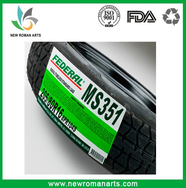 Customized Top Quality Printed Self Adhesive Tyre Label