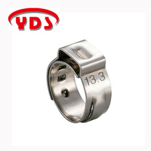 Stainless steel small clamps single ear hose clamp